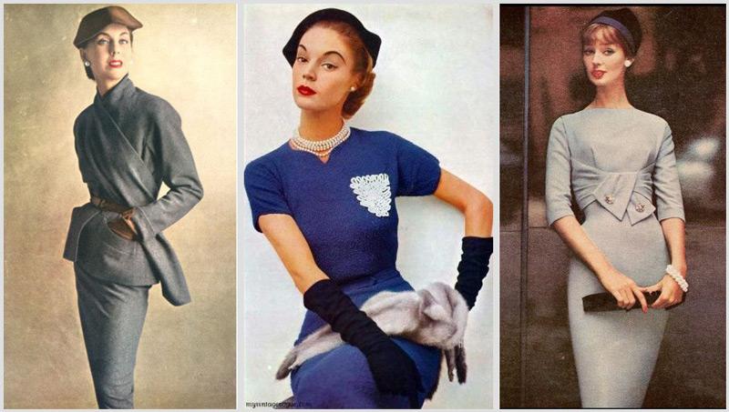 Модели в классических образах в платьях карашндаш различного покроя