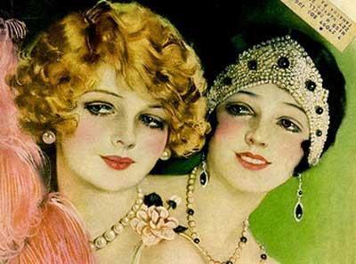 Модные девушка 1920 год