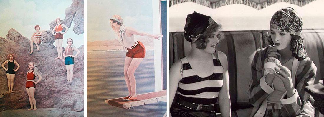 Модные купальники в 1920-х годах