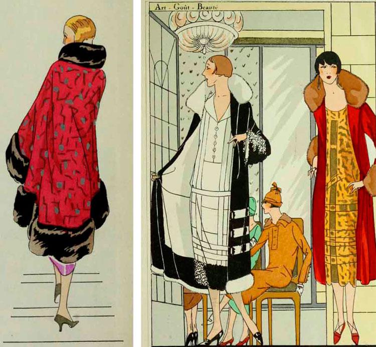 Модные пальто от Люсьен Лелонг, 1925 год