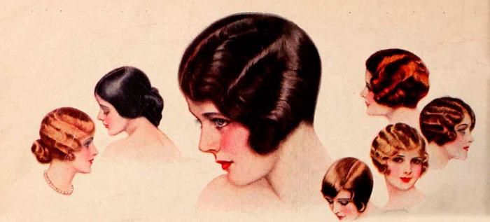 Модные прически 1920-х годов 2