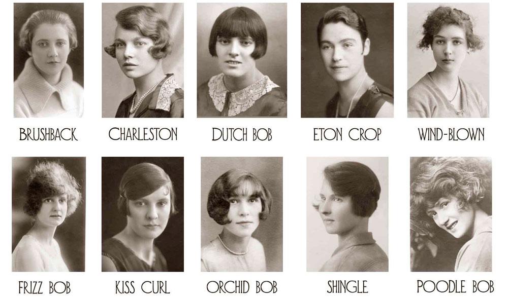 Модные прически 1920-х годов