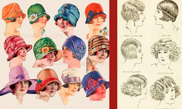 Модные прически и шляпы 1920-х годов
