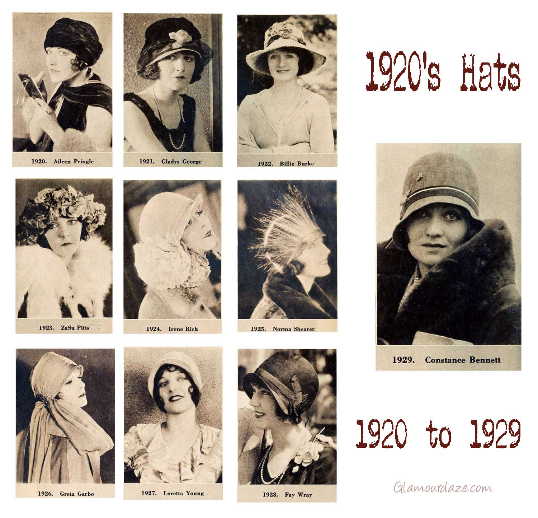 Модные шляпки от 1920 по 1929 года