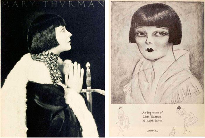 Первая, короткая стрижка - Мэри Турман 1921 год