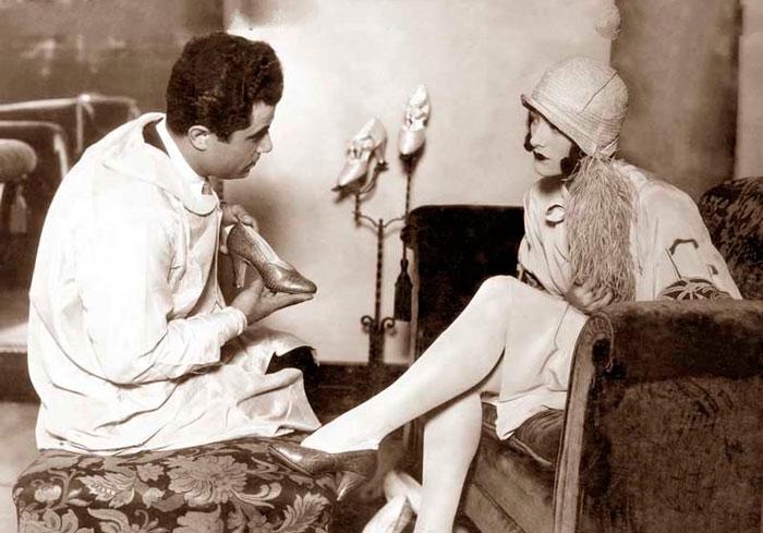 Сальваторе Феррагамо и Джоан Кроуфорд, 1928 год