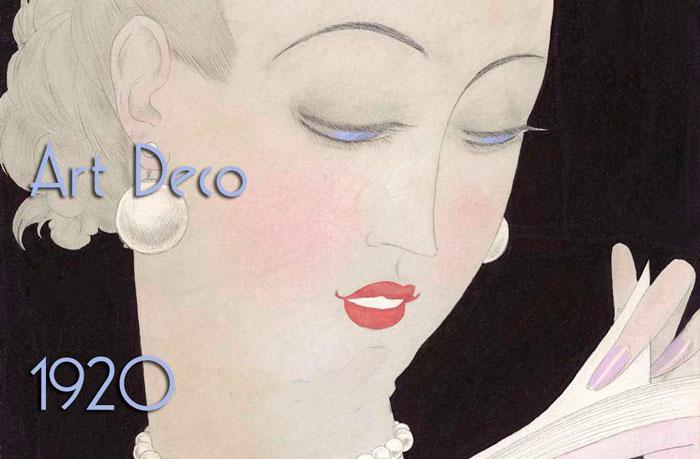 В стиле Art Deco, Georges Lepape для Vogue 1926 год
