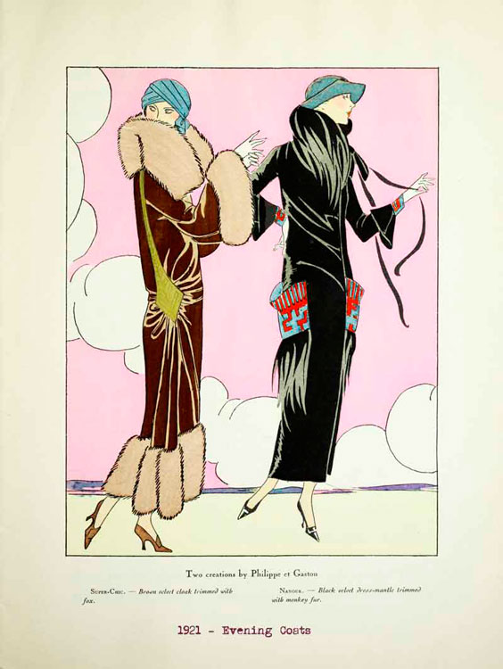 Вечерние пальто, 1921 год