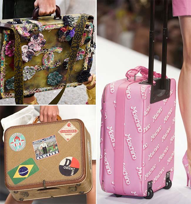 элегантные чемоданы для путешествий, тенденции сумок весна-лето 2015