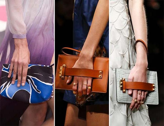 элегантные клатчи и кошельки, тенденции сумок весна-лето 2015
