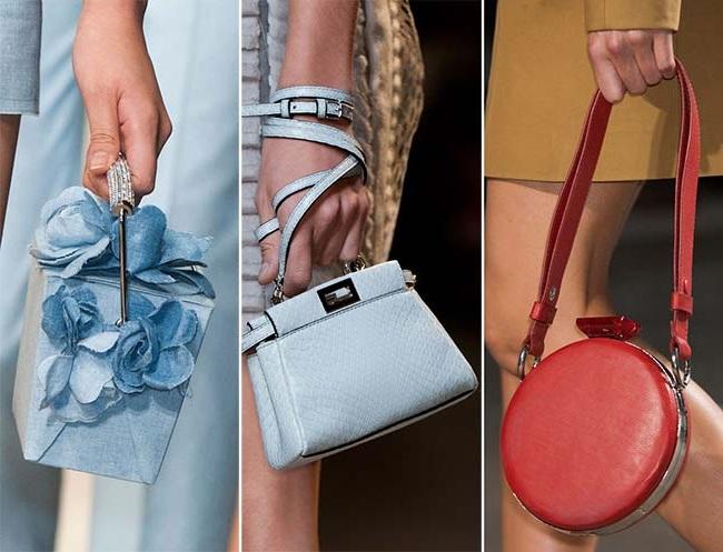 миниатюрные сумки, тенденции сумок весна-лето 2015