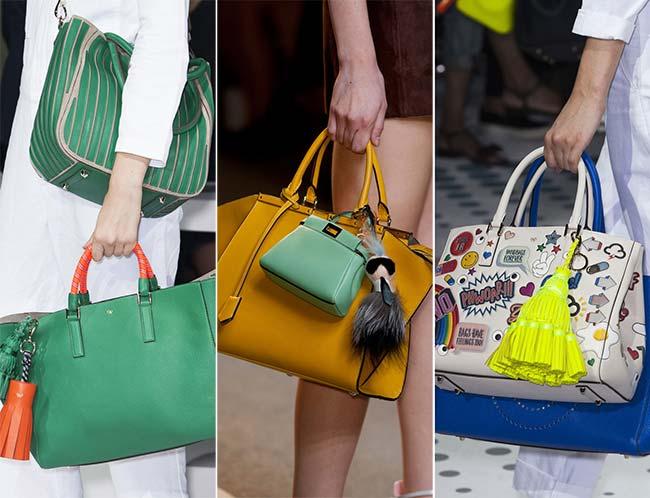 несколько сумок одновременно, тенденции сумок весна-лето 2015