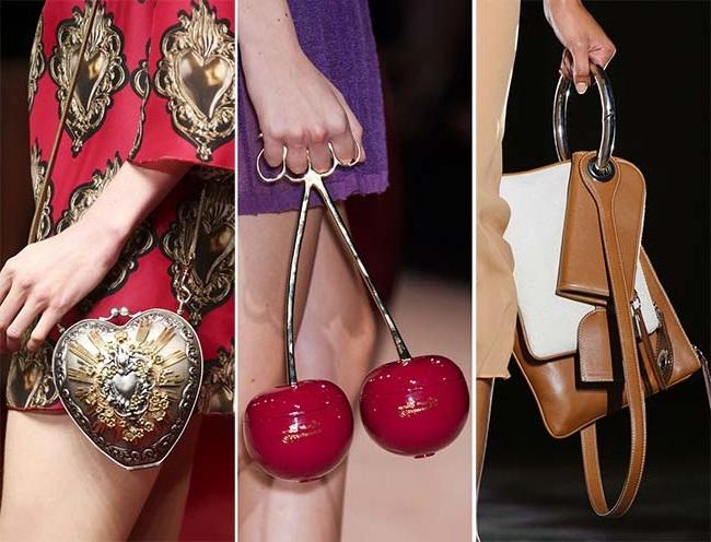 нетрадиционные экстраординарные сумки, тенденции сумок весна-лето 2015