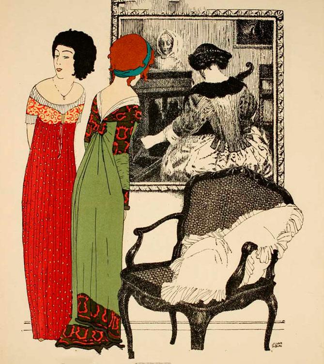 Женское платье эпохи нэпа