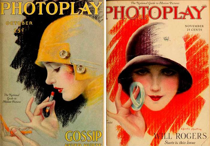постер макияж в 1920-х годах
