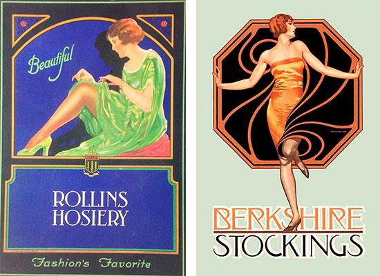 реклама чулков 1920-х годов