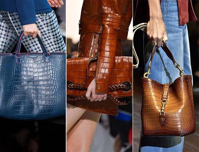 роскошные сумки из кожи рептилий, тенденции сумок весна-лето 2015