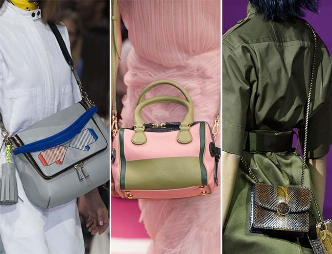 средние сумки через плече, тенденции сумок весна-лето 2015