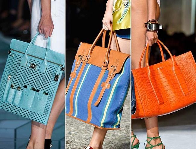 сумка-тоут, тенденции сумок весна-лето 2015