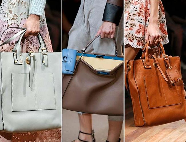 сумки больших размеров, тенденции сумок весна-лето 2015