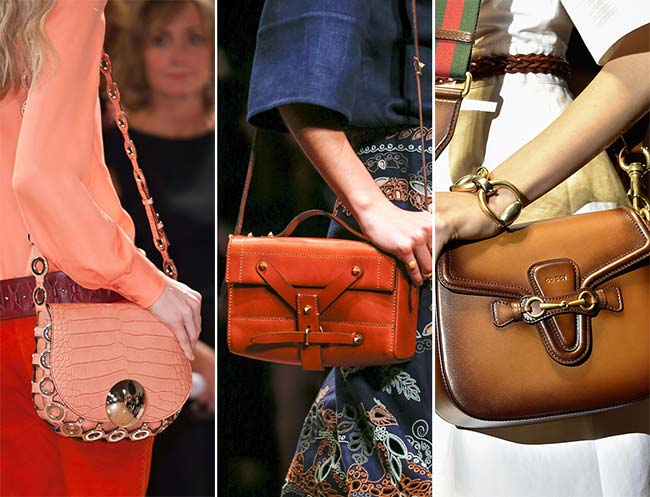 сумки через плечо, тенденции сумок весна-лето 2015