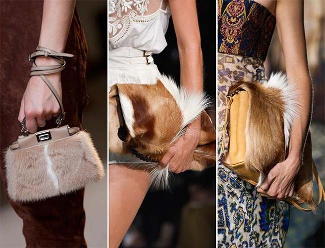 сумки из натурального меха, тенденции сумок весна-лето 2015