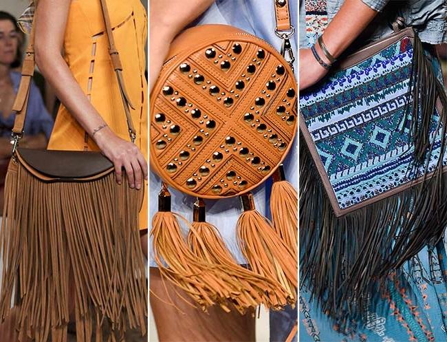 сумки с бахромой, тенденции сумок весна-лето 2015