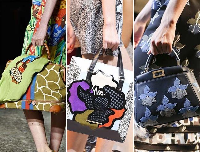сумки с принтами, тенденции сумок весна-лето 2015