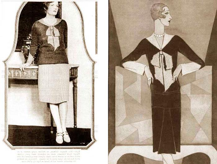 свитер от Эльзы Скиапарелли, 1927 год
