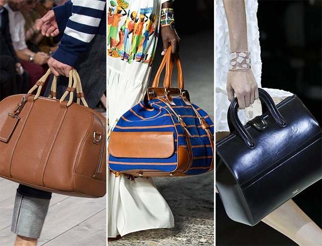 врачебные сумки, тенденции сумок весна-лето 2015