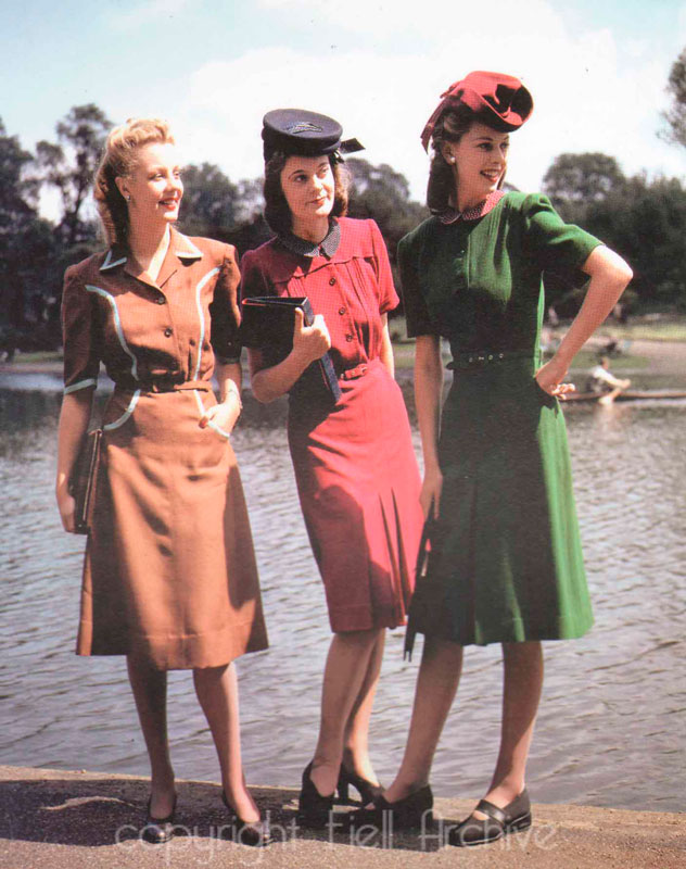 Мода 40-х годов в СССР : сложный период
