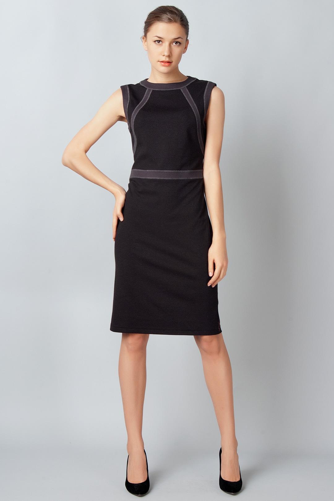 Платье футляр со вставками