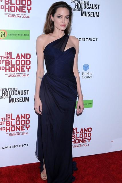Анджелина Джолив длинном платье от Roona Keveza
