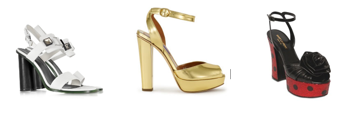 Босоножки на толстом каблуке от - Proenza Schouler, Ralph Lauren и Saint Laurent