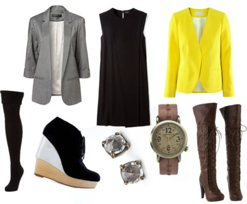 Серый пиджак - для офиса. Желтый - для прогулок по городу