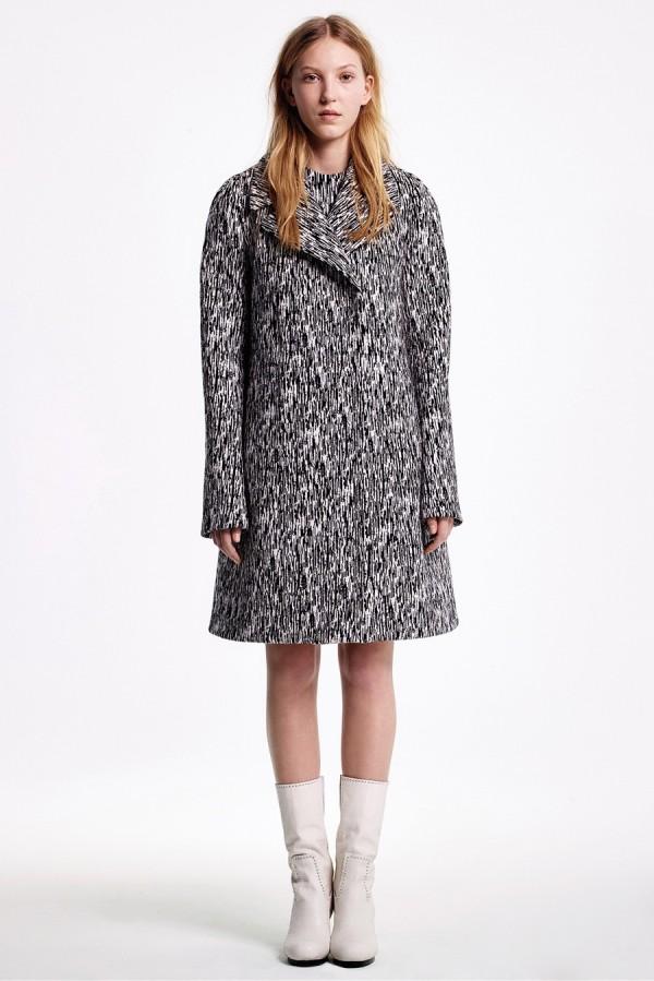 Черно-белое пальто oversize - тенденции моды осень/зима 2015/2016