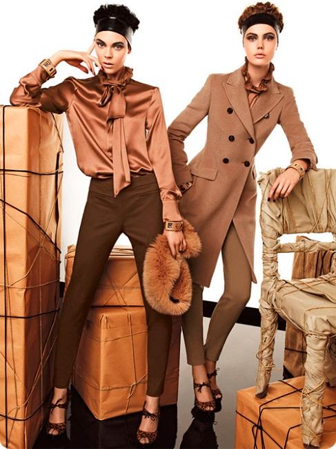 Девушки в коричневых образах