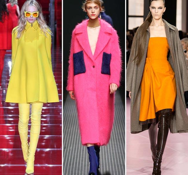 Девушки в очень ярких луках - тенденции моды сезона осень/зима 2015-2016