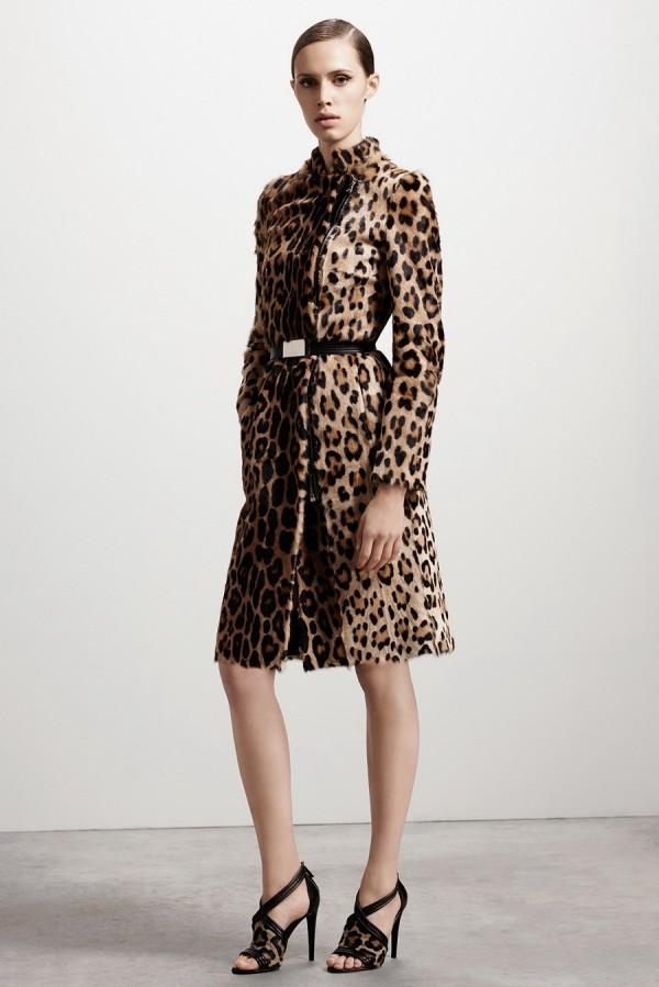 Пальто с леопардовым принтом - тенденции моды осень/зима 2015/2016