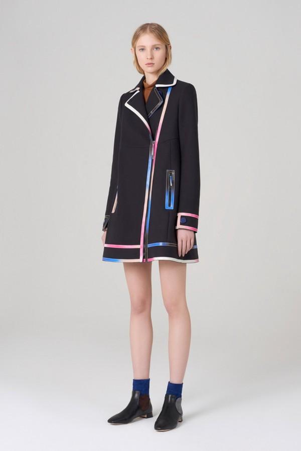 Пальто с яркими полосками - тенденции моды осень/зима 2015/2016