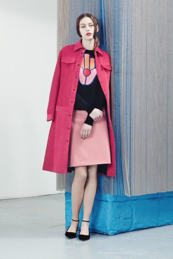 Розовое винтажное пальто - тенденции моды осень/зима 2015/2016