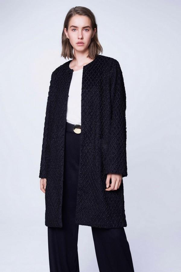 пальто без воротника - тенденции моды осень/зима 2015/2016