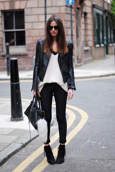 Черно белые джинсы