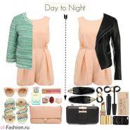 Дневной и вечерний образ с розовым комбинезоном