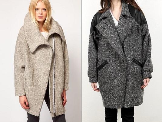 Две девушки в схожих пальто оверсайз