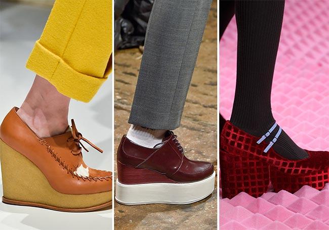 Обувь на высокой платформе - тенденции обуви осень/зима 2015-2016