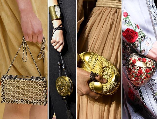 Роскошные сумки, стилизованные под драгоценные металлы - тенденции сумок осень/зима 2015-2016