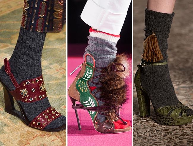 Сандалии с носками - тенденции обуви осень/зима 2015-2016