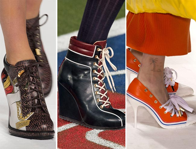 Туфли и ботильоны в спортивном стиле - тенденции обуви осень/зима 2015-2016