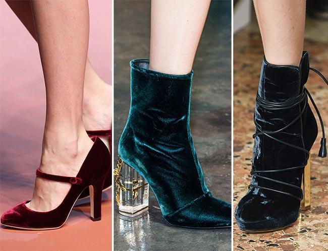 Туфли из бархата - тенденции обуви осень/зима 2015-2016